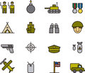Collection of army icons Royalty Free Stock Photo