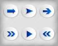 Collection arrow icons. Royalty Free Stock Photo