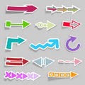 Collection of arrows Royalty Free Stock Photography