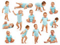 Collection of a baby boy's behavior Royalty Free Stock Images