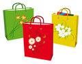 Collection bags for shopping Stock Images