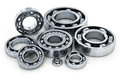 Collection of ball bearings Royalty Free Stock Photo