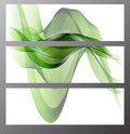 Collection banners modern wave design, colorful background. vector illustration Royalty Free Stock Photo
