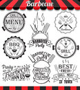 Collection of barbecue signs, symbols and icons.