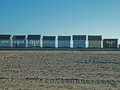 A collection of beach huts sutton on sea east coast yorkshire Royalty Free Stock Images
