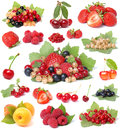 Collection berries Royalty Free Stock Images