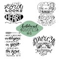 Collection 4 with 4 Bible verses. Me and my house we will serve the Lord. Mercy