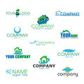 Collection of Bio logos Stock Photography