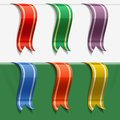 Collection of bookmarks decoration ribbons with shadows and reflections Royalty Free Stock Images