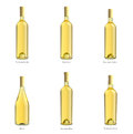 Collection of bottles of white wine Royalty Free Stock Photo