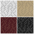 Collection of brick wall backgrounds endless Royalty Free Stock Photography