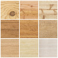 Collection of bright wood textures Royalty Free Stock Photo