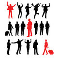 Collection of business peoples Stock Images