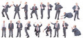 Collection businessmen different positions Stock Photo