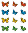 Collection of butterflies Royalty Free Stock Image