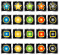 Collection of buttons vector set colored fromat and isolated Stock Photo