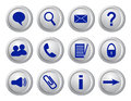 Collection of buttons for websites and forums Stock Photo