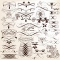 Collection of calligraphic vector design elements and page decor set for Stock Photo