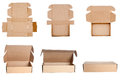 Collection of cardboard boxes Royalty Free Stock Photo