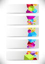 Collection of cards with colorful cubes clip art Royalty Free Stock Image