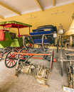 Collection of carriages in the city palace in jaipur india oct coaches on oct india it was seat maharaja Royalty Free Stock Photos