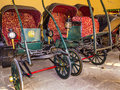 Collection of carriages in the city palace in jaipur india oct on oct it was seat maharaja Royalty Free Stock Photo
