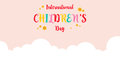 Collection of childrens day colorful background
