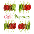 Collection of Chili Peppers Royalty Free Stock Photo