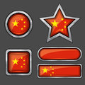 Collection of china flag icons Stock Image