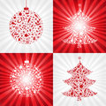 Collection Christmas Backgrounds. Vector Royalty Free Stock Images
