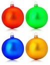 Collection of Christmas balls isolated on the white background Royalty Free Stock Photo