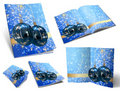 Collection of Christmas balls picture books Royalty Free Stock Photo