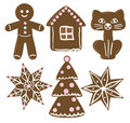 Collection of Christmas cookies Stock Photography