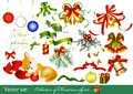 Collection of christmas design elements Stock Image