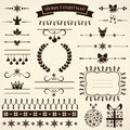 Collection of christmas design elements vector illustration various for and page decoration Stock Photos