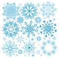 Collection christmas snowflakes illustration abstract art backgrounds Royalty Free Stock Images