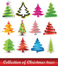 Collection of Christmas trees Stock Photography