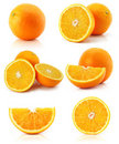 Collection citrus orange fruit isolated on white Royalty Free Stock Images
