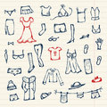 Collection of clothes sketch for your design Royalty Free Stock Photos