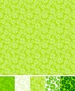 Collection of clover patterns, for Saint Patrick Royalty Free Stock Photo
