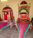 Collection of coaches in the city palace in jaipur india oct on oct it was seat maharaja Stock Photo