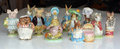 Collection of Collectable Beswick Beatrix Potter Figurines. Royalty Free Stock Photo