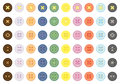 Collection of color buttons Stock Image