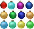 Collection of colored christmas ornament . Royalty Free Stock Photo