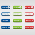 Collection of colored rectangular buttons eps Royalty Free Stock Photography