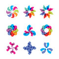 Collection colorful abstract universal icons Royalty Free Stock Images