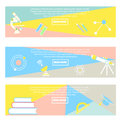 Collection of colorful banners Back to school