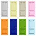 Collection colorful doors Art