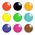 Collection colorful glossy spheres isolated white vector design eps Stock Photos
