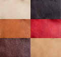 Collection of colorful leather Royalty Free Stock Photography